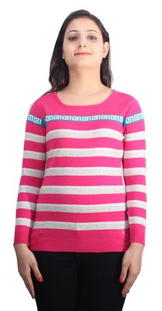 * Penny Deals * - Romano Beautiful Pink Wool Pullover Sweater Top for Women ** You can find out more details at the link of the image.
