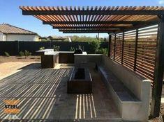 Diy Pergola, Veranda Pergola, Building A Pergola, Wooden Pergola, Outdoor Pergola, Pergola Shade, Outdoor Spaces, Pergola Ideas, Pergola Lighting