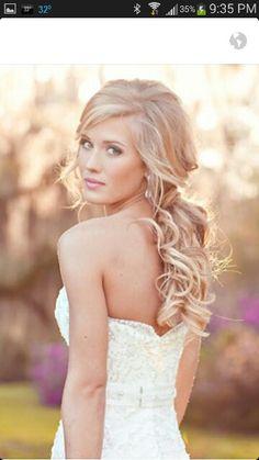 Art Wedding Hair hair-and-beauty Long Hairstyles, Pretty Hairstyles, Wedding Hairstyles, Romantic Hairstyles, Bridesmaid Hairstyles, Beach Hairstyles, Quinceanera Hairstyles, Bohemian Hairstyles, Wedding Hair And Makeup