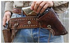 CWCowboy — A smart gun rig makes a guy feel secure and ready. Cowboy Holsters, Western Holsters, Custom Leather Holsters, Cowboy Action Shooting, Pistol Holster, Cowboy Gear, The Lone Ranger, Leather Projects, Guns And Ammo