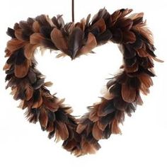 Artificial Pheasant Feather Wreath
