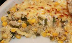 Poblano Rice Gratin by Marcela Valladolid.  Delicious!