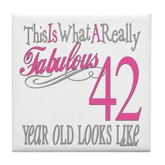This is what a really fabulous 42 year old looks like. This Birthday gift series celebrates all ages in style. Find ages in this collection from 1 to 100 in classic pink and gray colors. Happy 42nd Birthday, Happy Birthday In Heaven, Happy Birthday Celebration, Fabulous Birthday, Birthday Greetings, Birthday Wishes, Birthday Gifts, Its My Birthday Month, Its My Bday