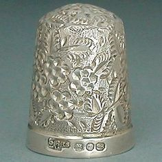 Antique Blackberry Form Sterling Silver Thimble * English * Hallmarked 1896