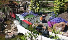 Garden Railroad - I'd actually like this for my {future} backyard. It gives me an excuse to indulge in my miniature obsession.