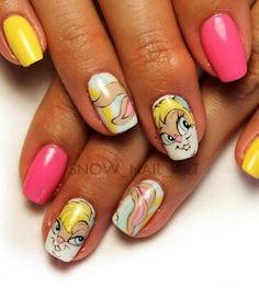 Looney tunes Lola Bunny Nails