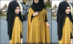 Image de black, fashion, and hijab Hijab Style Dress, Modest Fashion Hijab, Abaya Fashion, Hijab Outfit, Fashion Outfits, Scarf Outfits, Fashion Flats, Fashion Clothes, Muslim Women Fashion