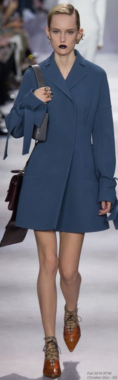 Fall 2016 Ready-to-Wear Christian Dior -EE Date: June 17, 2016 Notation: This could almost pass as chic boudoir, it's definitely chic and simple. The shoes add some spunk.