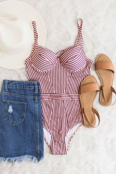 pink, white, brown, underwire, one piece, spaghetti strap, bathing suit, flat lay // The Copper Closet, fashion, boutique, clothing, affordable, style, woman's fashion, women fashion, online shopping, shopping, clothes, girly, boho, comfortable, cheap, trendy, outfit, outfit inspo, outfit inspiration, ideas, swimwear, bikini, one piece, beach, vacation, swim, swim suit, Saint Augustine photoshoot, look book, Jacksonville Beach, Atlantic Beach