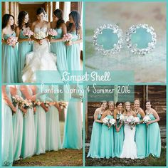 Limpett Shell--this color makes me smile!  Perfect for a spring or summer wedding!  And I NEED those earrings!!! http://www.onsitereceptions.com/#!Bridal-Fashion-Month-10-Color-Trends-for-2016-Bridesmaid-Dresses/c15o3/562129270cf2c6c643784fe5