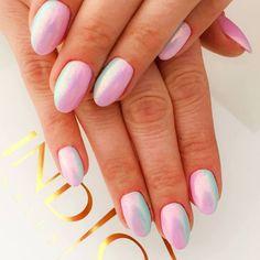 by Euphoria Studio, Indigo Mikołów - Follow us on Pinterest. Find more inspiration at www.indigo-nails.com #nailart #nails #indigo #mermaid #pastel