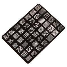 Malloom® Nail Art Decor Nail Stamping Printing Plate Image Stamps: Amazon.co.uk: Beauty