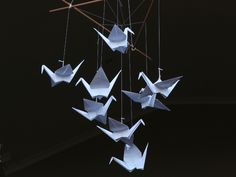 Hand-folded Paper Origami Cranes custom-created for your event decor