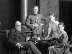 Count Karol Lanckoroński with his children - Antoni Maria Kazimierz (1893-1965), Adelajda Maria (1903-1980) and Karolina Maria Adelajda (1898-2002) (sitting). Note that Karolina lived in three centuries.