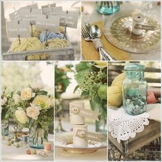 vintage sewing themed wedding....I want to throw a party now!!! Sew cute:)
