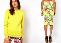 #asos #outfitideas#sweaters #skirts #fashion #colors #pastels #unicorns #floral #prints #summertrend #fashionblogger #inspiration