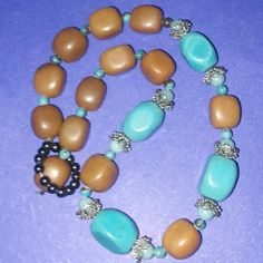 Western style Necklace Very nice turqoise and brown stones Jewelry Necklaces