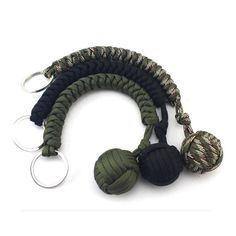 Outdoor Climbing Camping Paracord Parachute Rope Survival Tool Keyring Keychain Outdoor Camping Survival tools