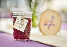 Homemade Jam as wedding guest gifts as seen presented at Table #4.