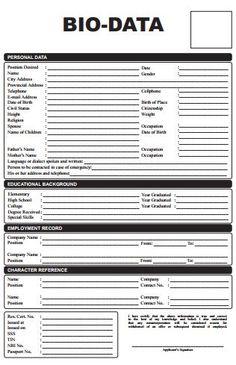 6 sample bio data form for job and mariage Job Resume Format, Resume Pdf, Sample Resume Format, Basic Resume, Job Resume Examples, Resume Template Free, Cv Format, Templates, Free Resume