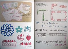 little japanese booklet-stamp designs for carving by feltcafe, via Flickr