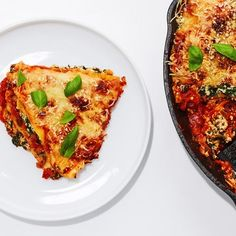 Baked Lasagna, Skillet Lasagna, Skillet Meals, Vegetarian Lasagna Recipe, Cauliflower Pasta, Pasta Dishes, Casserole Recipes, Cooking Recipes, Pasta Recipes