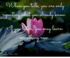 inspiration, listening and gratitude
