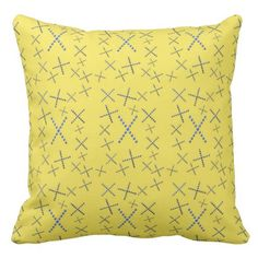 Fun Stuff Yellow Throw Pillow