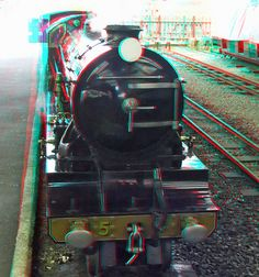 RHDR steam Locomotive anaglyph red blue (or cyan) glasses to view 3d Photo, Photo Art, Foto 3d, 3d Glasses, Blue Pictures, Red Blue Green, Glitch Art, Steam Locomotive, Single Image
