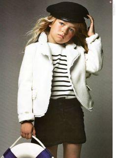 Tan and stylish little girl