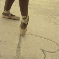 Pointe shoes in the snow, I thought of ya when I saw this @Candice Chancey