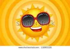 Vector sun character