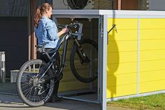Outdoor Bike Storage, Bicycle Garage, Outdoor Landscaping, Garden Landscaping, Cabin, Old Fashion, Build House, Parking Space, Mailbox