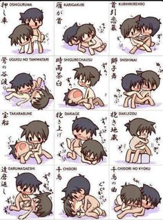 Yaoi positions demonstrated by cute Chibis ^_^