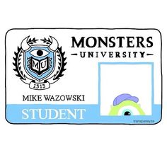 Disney, monster shared by Pastora Waldorf on We Heart It Tumblr Stickers, Diy Stickers, Laptop Stickers, Sticker Ideas, Printable Stickers, Planner Stickers, University O, Monster University, Transparents Tumblr