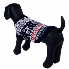 HP95(TM) Dog Clothes Pet Winter Woolen Sweater Knitwear Puppy Clothing Warm Snowflake Deer High Collar Coat ** Find out more details by clicking the image : Dog sweaters