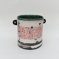 Slab-built #vessel Ceramic Pottery, Jar, Ceramics, Wine, Jewellery, Ceramica, Pottery, Jewels, Schmuck