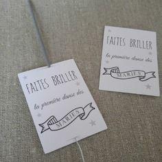 10 étiquettes pour bâton étincelle - première danse mariage cérémonie -message - fait main
