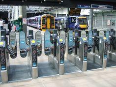 COSMO Edinburgh train gate adverts.