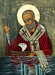 St. Nicholas - patron saint of sailors - Greek