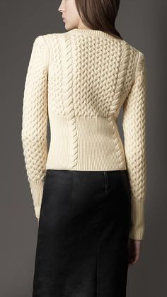 Wool Cashmere Cable Knit Sweater | Burberry