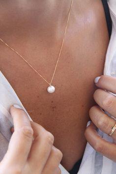 Fun Women Love Pearl Silver Mini Heart Pendant Necklace Sea Pearl Shell Box Gift