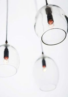 These lamps are so simple yet so complicated.  Unika lamps by Anders Lundqvist & Anne Louise due de Fønss