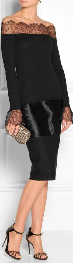Emilio Pucci. black lace, cocktail dress, emilio pucci, fashion styles, chic night, closet, little black dresses, lace dresses, haute couture