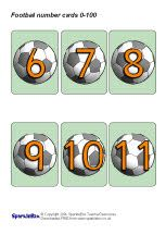 Football number cards 0-100 (SB290) - SparkleBox