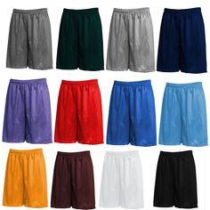 Men Mesh Shorts 2 Pockets workout Jersey pants S-5XL Soft Basketball Gym Fitness
