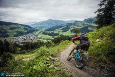 Mountain biking in Kirchberg: The famous Gaisbergtrail in Tyrol, Austria