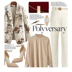 Celebrate Our Polyversary! Polyvore Outfits, Polyvore Fashion, Workwear Fashion, Fashion Outfits, Trouser Outfits, Cool Style, My Style, Jimmy Choo, Work Wear