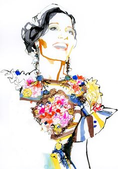 Dolce Gabbana S/S 2014 illustration by Marc-Antoine Coulon