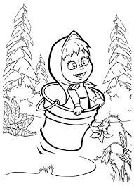 Resultado de imagen para coloring masha and the bear